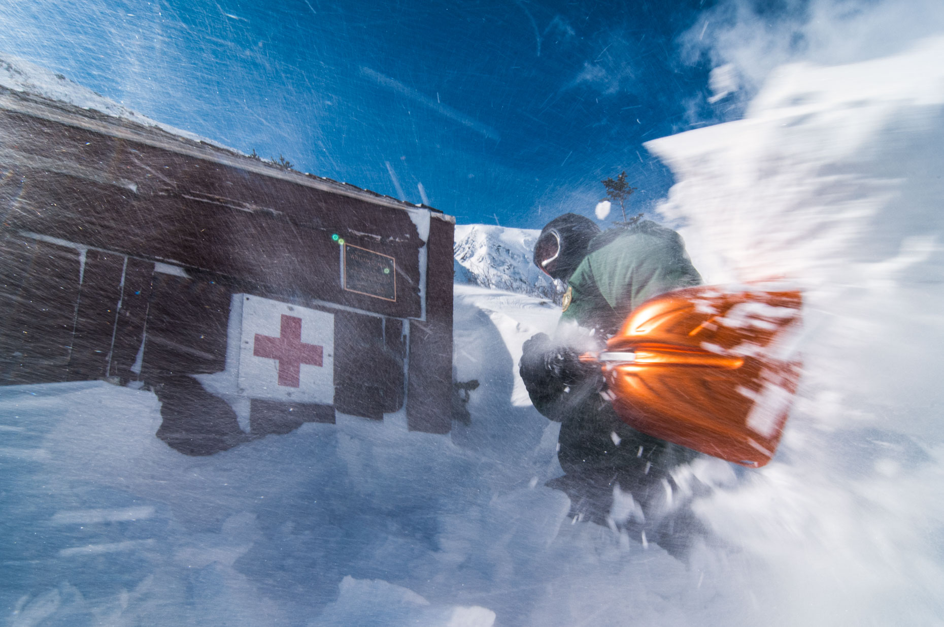 Shoveling out First aid cache