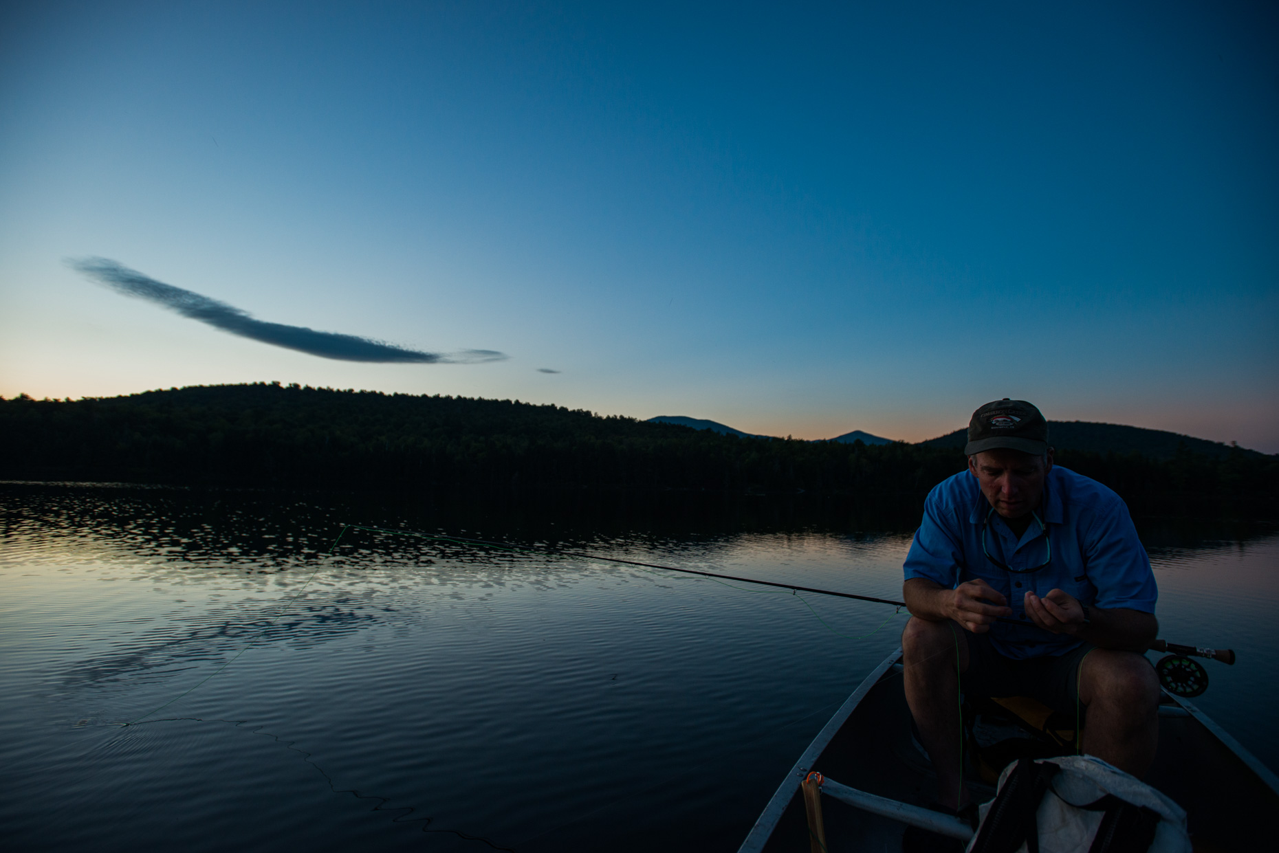 Late evening fly fishing in the White Mountains