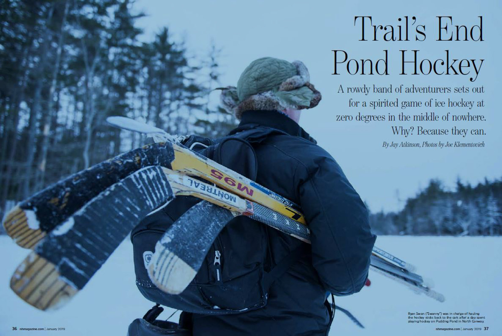 Pond Hockey NH Magazine cover photograph