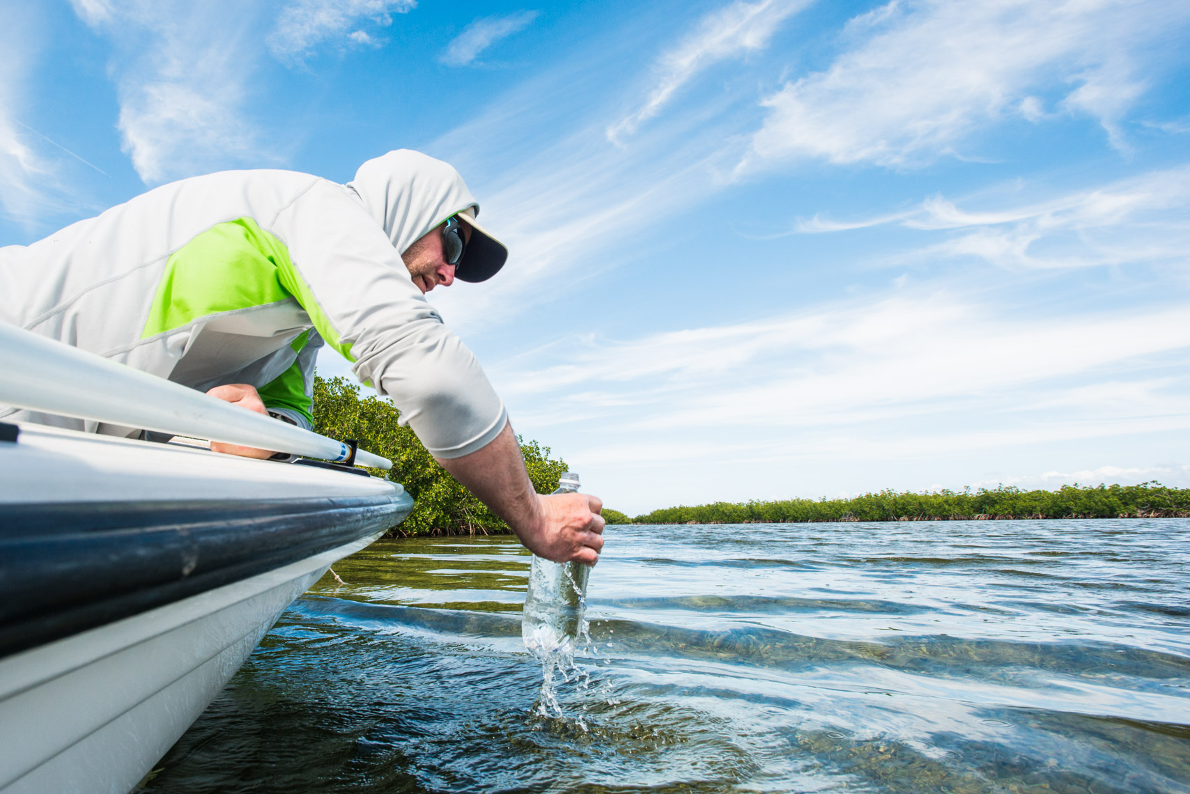 Sampling for micro-plastics in the Florida Keys