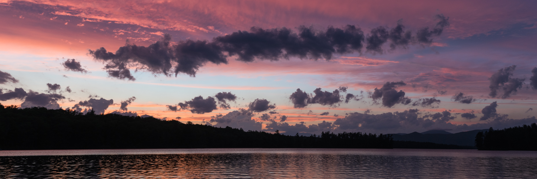 Sunset on Conway Lake, New Hampshire.
