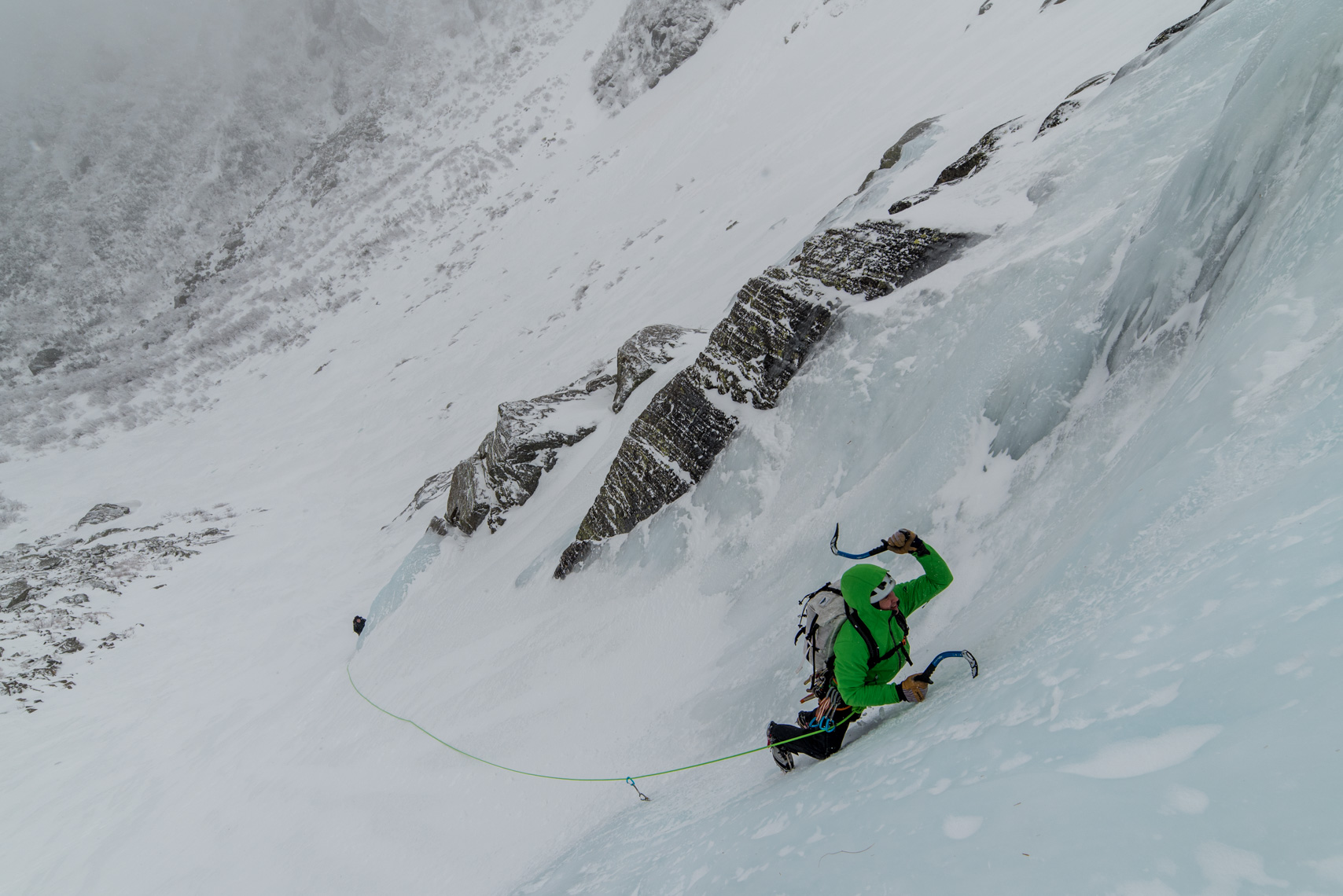 Ice climbing in Tuckerman Ravine