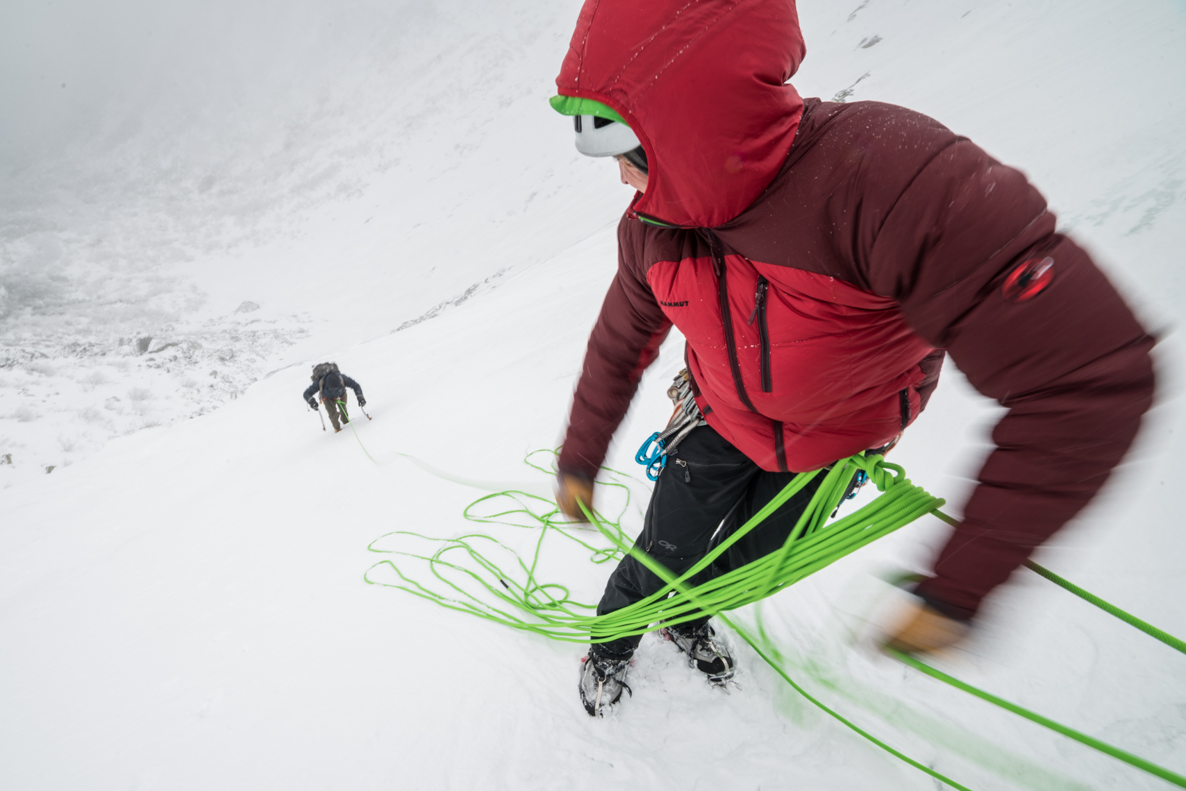 Belaying in winter